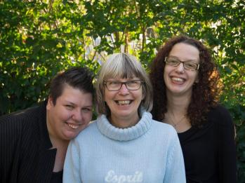 Me with my mum (in the middle) and my sister ( on the right)